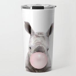 Bubble Gum Baby Rhino Travel Mug