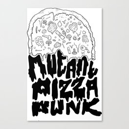 Mutant Pizza Canvas Print