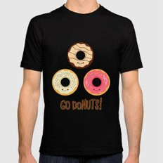 Go doNUTS! Mens Fitted Tee MEDIUM Black