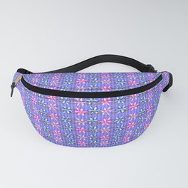 Violet Stripes with Flowers Fanny Pack