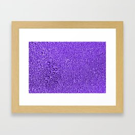 Water Condensation 05 Violet Framed Art Print