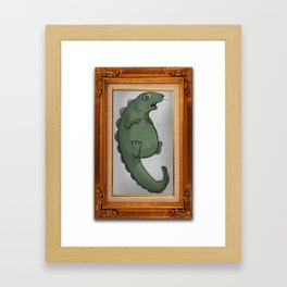 Fat Dinosaur Framed Art Print