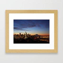Seattle Sunrise Framed Art Print