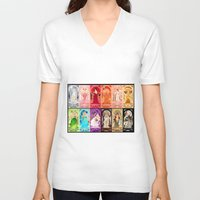 zodiac V-neck T-shirts featuring Zodiac Collection by Sprat