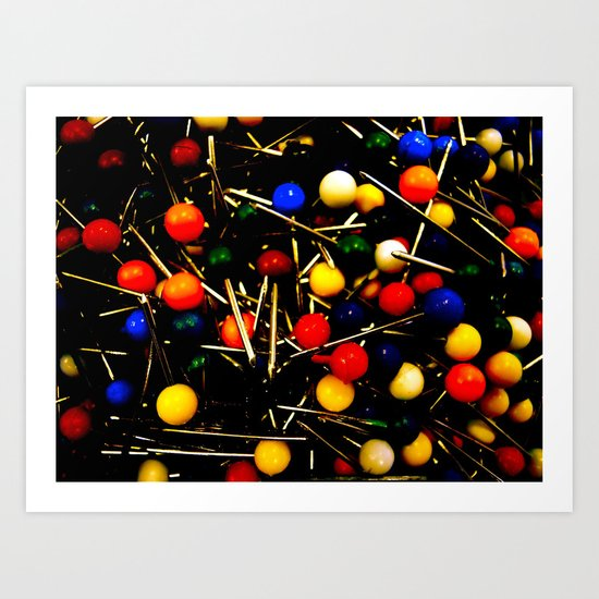 On Pins and Needles Art Print