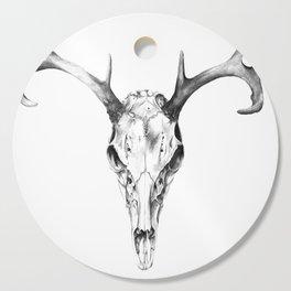 Deer Skull in Pencil Cutting Board