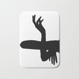 Figure silhouette drawing - Kelly Bath Mat