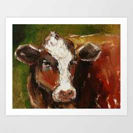 Cow Portrait Art Print