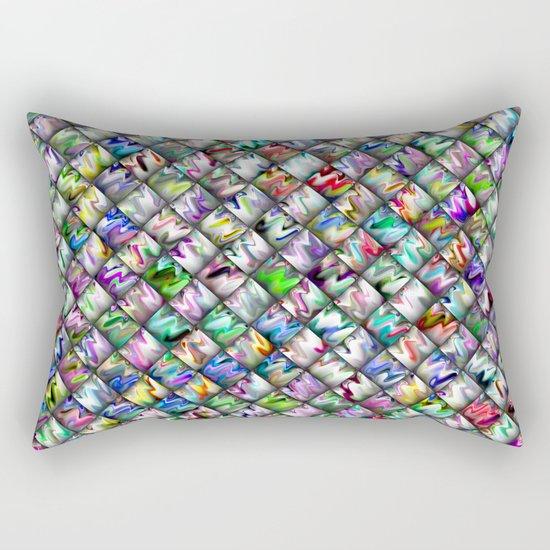 Patchwork Rainbow Rectangular Pillow