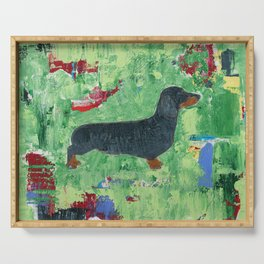 Dachshund Weiner Dog Painting Serving Tray