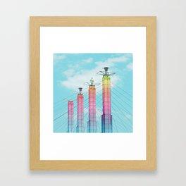 Bartle Hall in Rainbow Framed Art Print