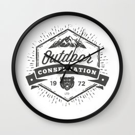 Outdoor Conservation Wall Clock