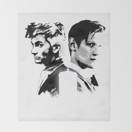 Dr. Who - The Two Doctors  Throw Blanket