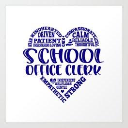 School office clerk, assistant, school Art Print