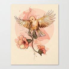 Bird&flowers Canvas Print