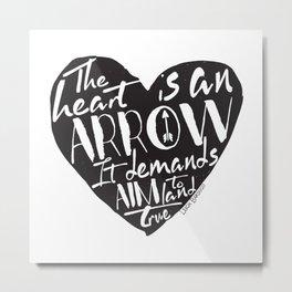 Heart is an Arrow - Six of Crows design Metal Print