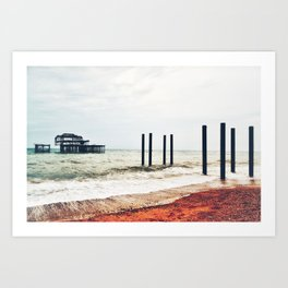 West Pier in Early April Art Print