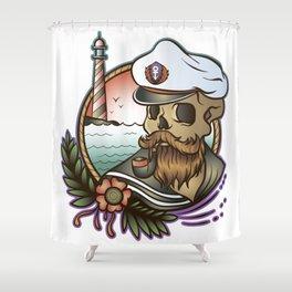 Skull Cap Shower Curtain