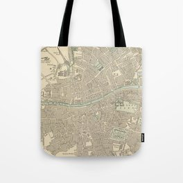 Vintage Map of Dublin Ireland (1901) Tote Bag