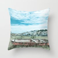 portugal Throw Pillows featuring Portugal by Sandy Broenimann