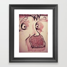 In Your Face Mr. Moustache Framed Art Print