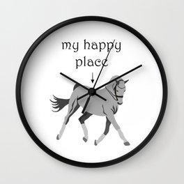 riding equestrian sports dressage horse horses Wall Clock