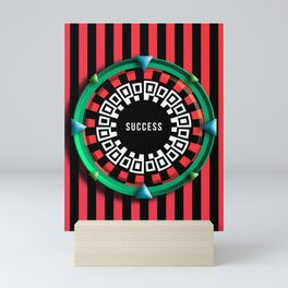 Playing roulette of a successful champion Mini Art Print