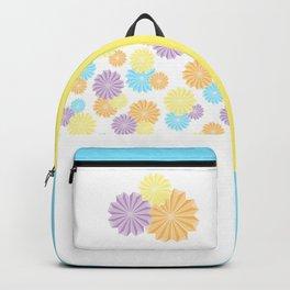 Origami Flowers - Blue Backpack