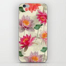 Lotus Flower Pattern iPhone Skin