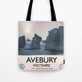Avebury, Wiltshire Stone circle Train travel poster Tote Bag