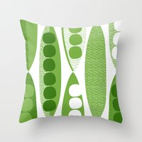 mod Throw Pillows featuring Mod Pod by Alex Morgan