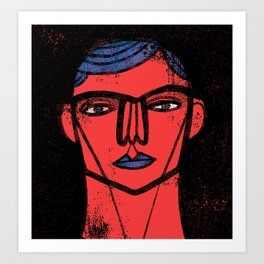 Red Blue Black Art Print