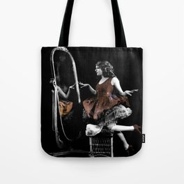 Through The Looking Glass Brown Tote Bag