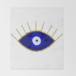 I See You Evil Eye Throw Blanket