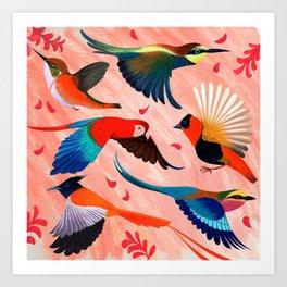 birds love Art Print