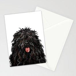 Black Puli Dog Stationery Cards
