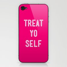 Treat Yo Self Pink- Parks and Recreation iPhone & iPod Skin