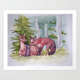 Woodland Family Art Print