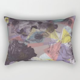 Modern abstract colorful geometric floral pattern Rectangular Pillow