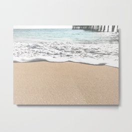Wave Foam // California Ocean Pier Sandy Beaches Surf Country Pacific West Coast Photography Metal Print