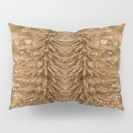 Golden Christmas Glitter Tree Decoration Pillow Sham