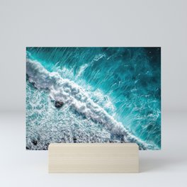 ocean wave Mini Art Print