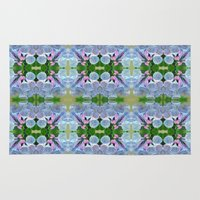 virginia Area & Throw Rugs featuring Virginia Bluebells by JoLynne