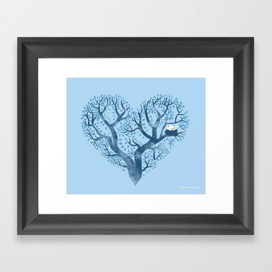 Home is where the nest is Framed Art Print