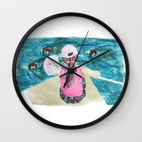 mermaids Wall Clocks featuring Mermaids by Condor
