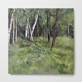 Woodland Forest Landscape Nature Art Metal Print