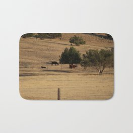 Cows in Utah Pastureland Bath Mat