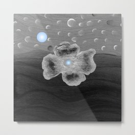 Blue Moon and poppy Metal Print