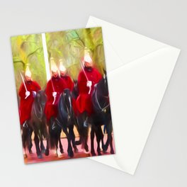 The Queens life guards on the Mall Stationery Cards