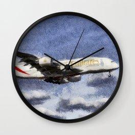 Emirates A380 Airbus Art Wall Clock